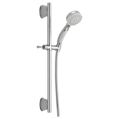Universal Showering Components  51549-WC Delta: ActivTouch Slide Bar Hand Shower in Chrome/white