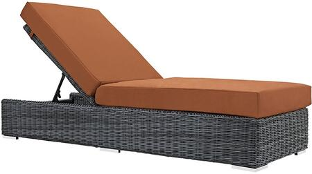 """Modway EEI1876GRYTUS 83.5"""" Water Resistant Lounge Chair"""