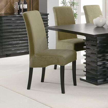 Coaster 10206 Stanton Rich Black Dining Side Chair in Black Finish