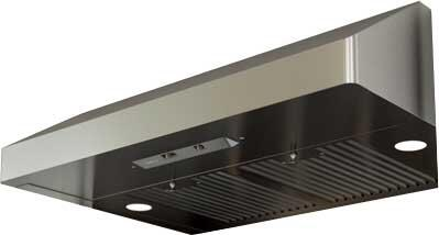 "Zephyr AK71XXASBF XX"" Essentials Power Series Gust Under-Cabinet Range Hood with 400 CFM, Baffle Filters, 3 Speed Levels, Mechanical Slide Controls and Dual Level Lighting, in Stainless Steel"