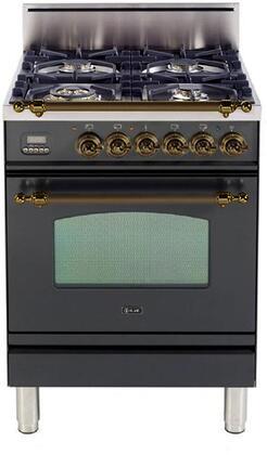 Ilve Nostalgie UPN60DVGGMY Nostalgie Gas Range