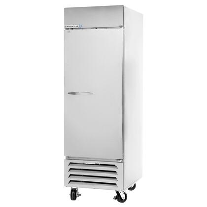 """Beverage-Air HBF12-1 21"""" Horizon Series One Section [Solid Door] Reach-In Freezer, 12 cu.ft. Capacity, Stainless Steel Exterior, White Coated Steel Interior walls, with Bottom Mounted Compressor"""