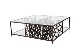 Allan Copley Designs 21401015 28x21x21 Cracked Ice Cocktail Table