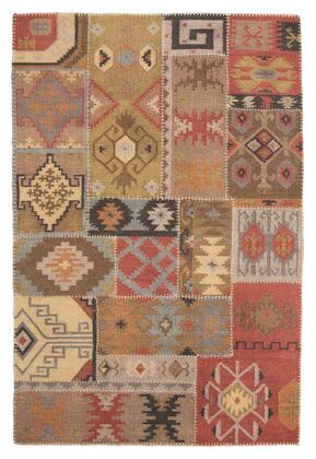 Signature Design by Ashley Posey R40157x X Size Rug with Kilim Patchwork Design, Hand-Woven and Wool Material in Multi Color