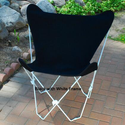 Algoma 405X Butterfly Chair with White Frame