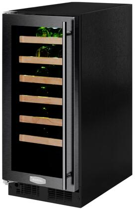 """Marvel ML15WSG2T 15"""" Marvel High-Efficiency Single Zone Wine Refrigerator with Dynamic Cooling Technology, Vibration Neutralization System, Thermal Efficient Cabinet, and Soft Close Integrated Controls, in"""