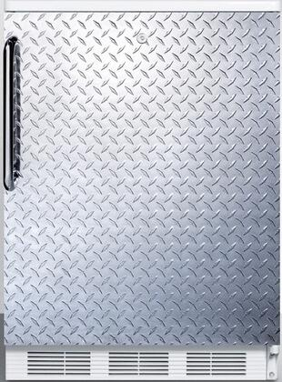 """AccuCold FF6L 24"""" FF6 Series Medical Freestanding Compact Refrigerator with 5.5 cu. ft. Capacity, Interior Light, Door Storage, Crisper and Automatic Defrost:"""
