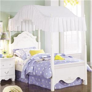 Standard Furniture 4083A Diana Series  Twin Size Canopy Bed