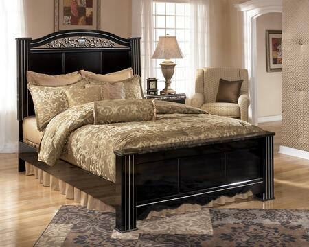 Milo Italia BR-180BED Paityn X Size Panel Bed: Deep Glossy Black