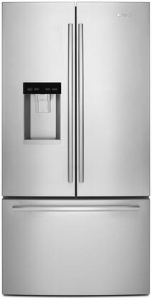 "Jenn-Air JFFCC72EF 36"" Counter-Depth French Door Refrigerator with 17.5 cu. ft. Capacity, 6.3 cu. ft. Freezer Capacity, Sabbath Mode, Interior LED Lighting, FreshFlow Air Filter, in Stainless Steel"