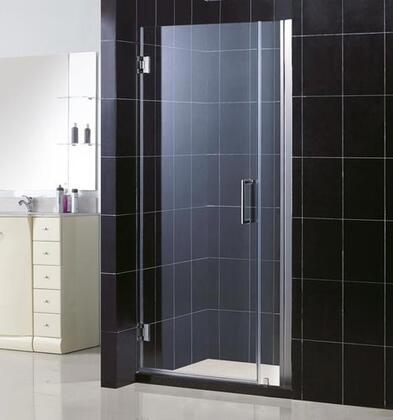 DreamLine SHDR-20327210 Unidoor Frameless Hinged Shower Door With Self-Closing Solid Brass Wall Mounted Hinges (5 Degree Offset), Reversible For Right or Left Door Opening