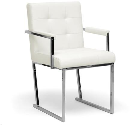 Wholesale Interiors ALC1128WHITE Collins Series  Accent Chair