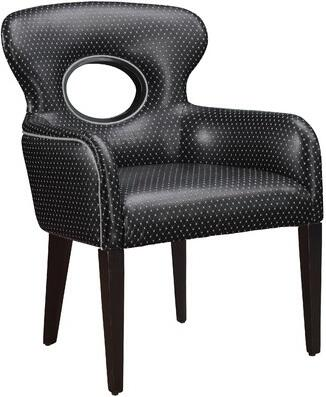 Gail's Accents 93999CHR Armchair Vinyl Wood Frame Accent Chair