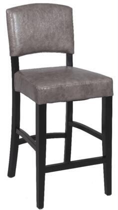 Chintaly 0297BS Residential Bonded Leather Upholstered Bar Stool