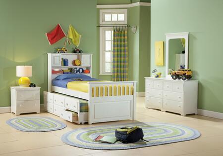 "Atlantic Furniture CAPTAINSTDSTTWINWH Captain""s Series  Twin Size Captains Bed"