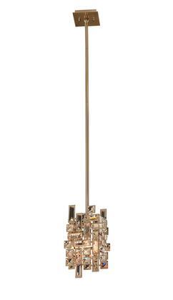 allegri 11195 038 fr001 vermeer brushed champagne gold mini ceiling light pendant