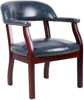 "Boss B9540 30"" Traditional Captain's Chair with Sturdy Hardwood Frame, No-Sag Spring Seat, and Nail Head Trim"