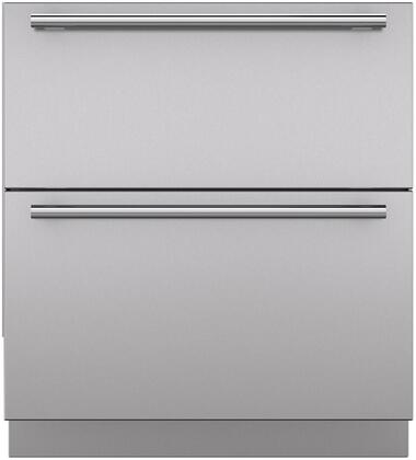 "Sub-Zero 702XXXXX Set of 2 Stainless Steel Drawer Panels with Handles and Toe Kick for 30"" Refrigerator Models"