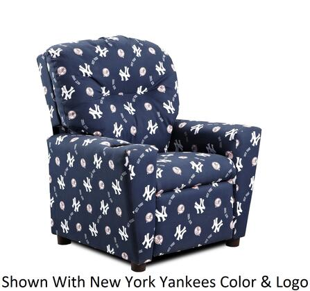 Imperial International 67-20 Kids Recliner With NFL Team Colors with A Pattern Of Team Logos and Helmets