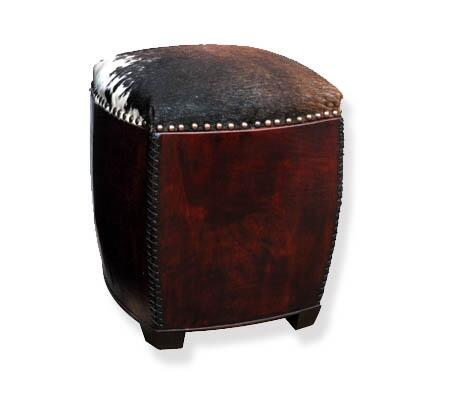 Peninsula Home Collection BB0021004 Contemporary Leather Ottoman