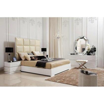 VIG Furniture 8C004AK4PCSET Ariel King Bedroom Sets