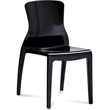 Domitalia CRYSTAL4P Crystal Stacking Chair with Patented Design, Recyclable Material, Polycarbonate Frame and Shell in