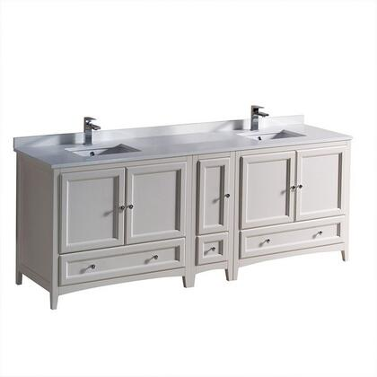 "Fresca FCB20361236XXCWHU Oxford 84"" Traditional Double Sink Vanity in"