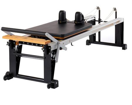 Merrithew ST010RV2 Rehab V2 Max Reformer with Patented Retractable Rope System and High-Traction Reformer Feet with Wheels