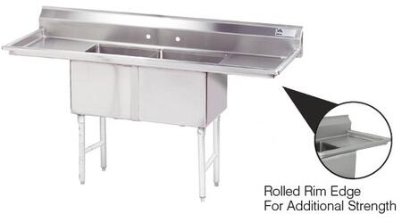 2 Compartment Sink   Right and Left Side Drainboard