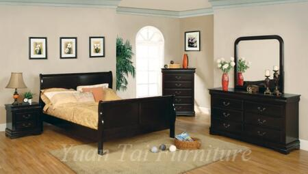 Yuan Tai 3779FCHY Louis Philippe Series  Full Size Sleigh Bed