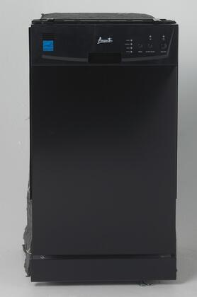 "Avanti DW18Dx 18"" ADA Compliant Built In Dishwasher with 8 Place Settings, 4 Automatic Cycles, 2 Racks, Cutlery Basket, Electronic Controls, and Three-Stage Filtering System"