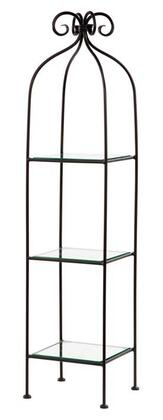 Stone County Ironworks 900-256 Scroll Standing Shelf Single Width 3-Tier