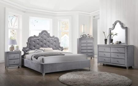 Meridian SOPHIEKPBDM2NC Sophie King Bedroom Sets