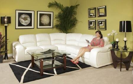 Novo Home 10263PC Soho Series Stationary Leather Sofa