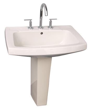 """Barclay 3978 Galaxy Collection 28"""" Vitreous China Pedestal Lavatory with Drilled Faucet Holes:"""
