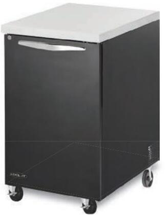 "Kool-It KBB241B 24"" Back Bars with Capacity of 7 cu.ft, 1 Door, 2 Shelves, 1/5 HP, in Black"