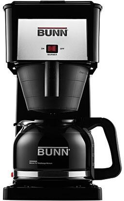 Bunn-O-Matic 38300.00xx 10 Cup Velocity Brew With Pour-O-Matic Drip-Free Glass Carafe, Internal Water Tank, in