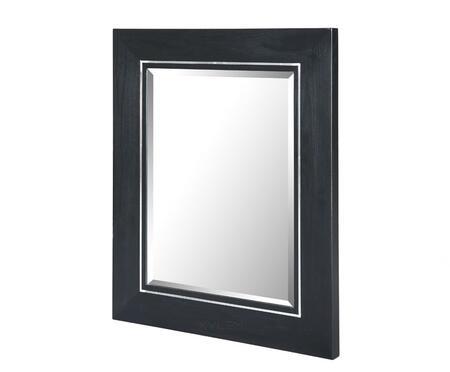 Xylem MMANHATTAN36BK  Rectangular Portrait Bathroom Mirror