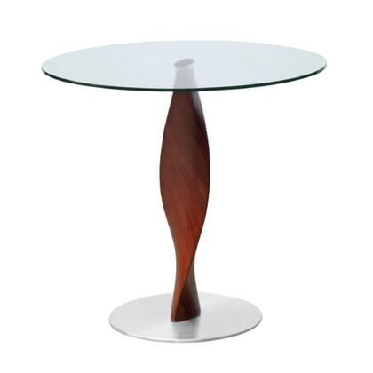Fine Mod Imports FMI9222 Edge Dining Table Wood Base And Glass Top