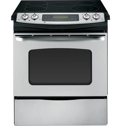 GE JSP46SPSS CleanDesign Series Slide-in Electric Range with Smoothtop Cooktop Storage 4.1 cu. ft. Primary Oven Capacity |Appliances Connection