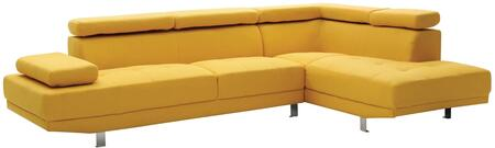 Glory Furniture G446SC Milan Series Curved Fabric Sofa