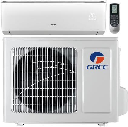 Gree VIRxHP230V1B Vireo Series Mini Split Single Zone with BTU, Heat Pump, 230 Volt, Remote Controller, in White