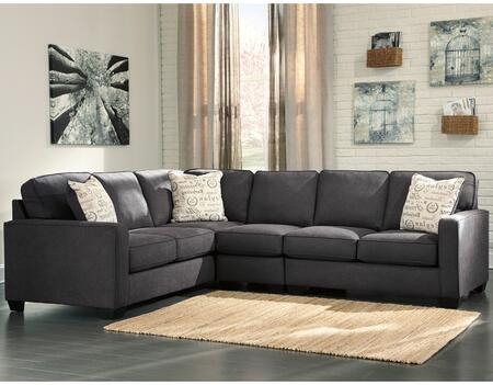 Flash Furniture FSD1669SEC3LAFSCHGG Alenya Series Stationary Microfiber Sofa