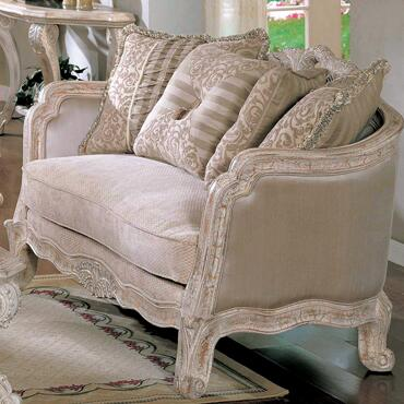 Yuan Tai CA2035L Callie Series Fabric Love Seat with Wood Frame Loveseat