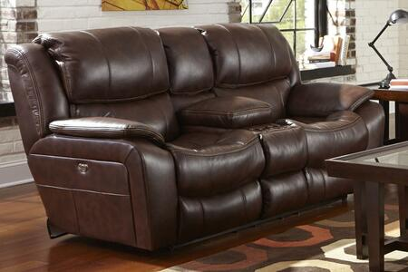 "Catnapper Beckett Collection 80"" Reclining Console Loveseat with Cup Holders, Contrast Welt Stitch, Coil Seating Comfor-Gel and Polyurethane Fabric Upholstery"