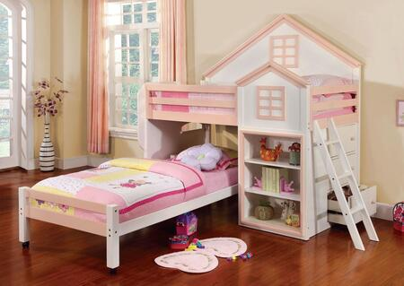 Furniture of America CMBK131PWBED Citadel Series  Twin Size Bed