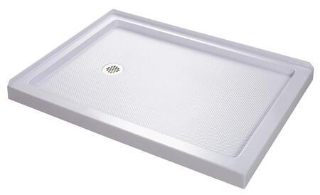 DreamLine DL-618 Double Threshold Shower Base and QWALL-4 Shower Backwalls Kit