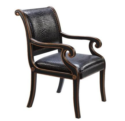 Gail's Accents 90006CHR Maria Series Armchair Leather Wood Frame Accent Chair  Appliances Connection