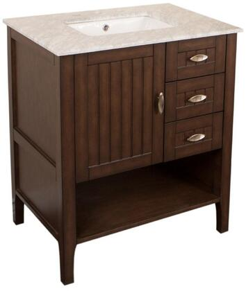 "Bellaterra Home 7616SWX 30"" Single Sink Vanity in Sable Walnut"