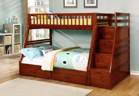 Bella Esprit Dakota Collection 45192-XX-ABC Twin Over Full Bunk Bed with Drawer and Storage Step in
